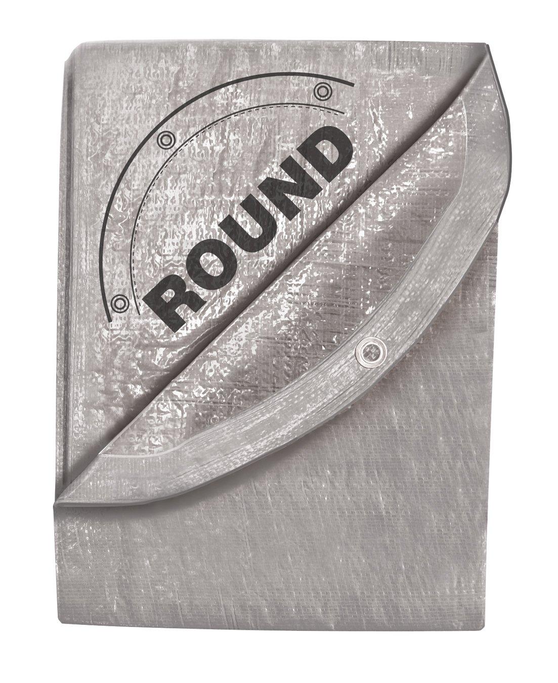 Round TEKTON 6405 29-Foot by 29-Foot Silver Tarp