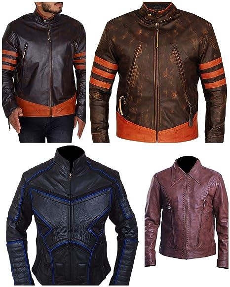 Western Fashions Chaqueta de Cuero marrón Genuino de X-Men ...