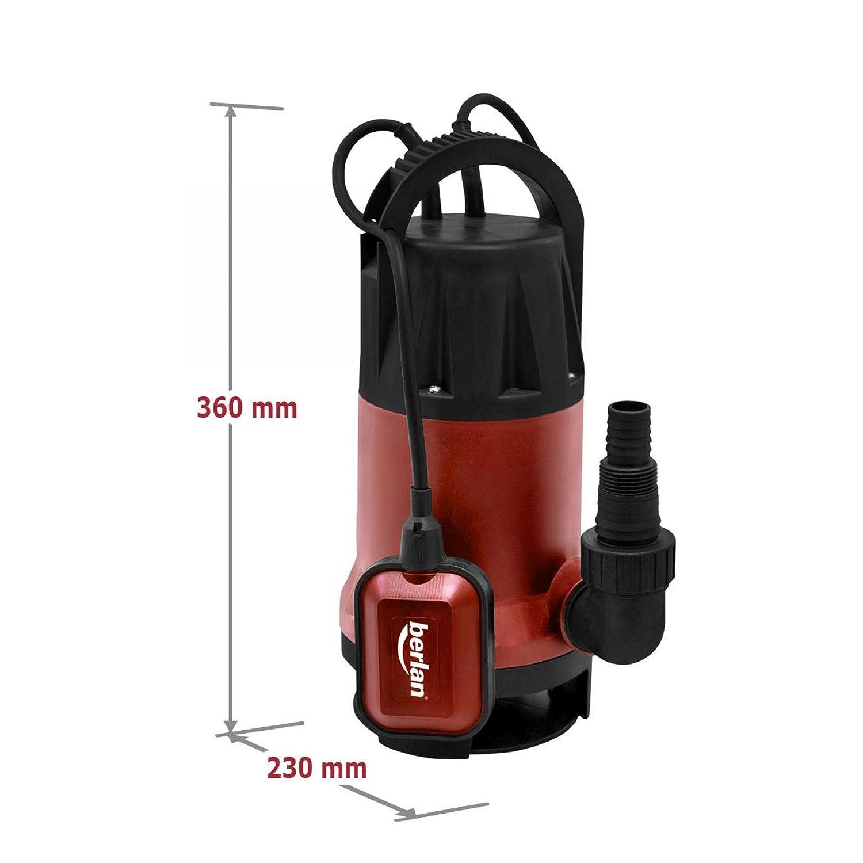 Edelstahl Tauchpumpe Schmutzwasserpumpe 1100 Watt 15.000 L//Std Gartenpumpe