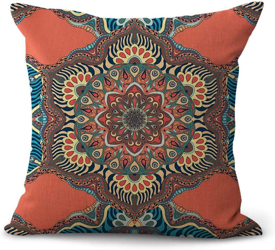 US Vendeur-Outdoor Throw Pillow Covers Perfection Eternity Mandala Victorien