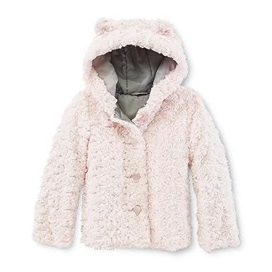 a9b77c775ec48 WonderKids Toddler Girls Pink Faux Fur Teddy Bear Dress Coat Jacket (4T)
