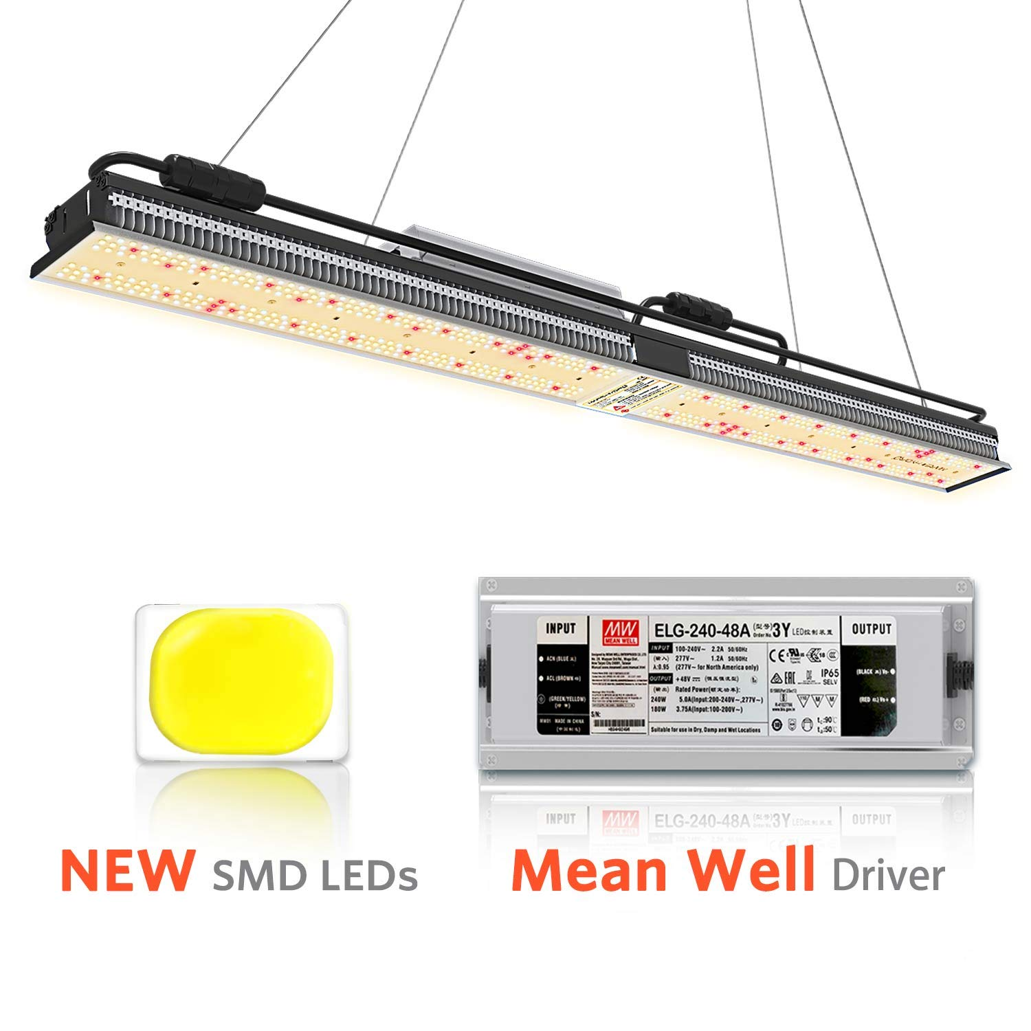 MARS HYDRO SP 250 Led Grow Lights Full Spectrum for Indoor Plants Veg and Flower Hydroponic Greenhouse Water Proof Dimmable Commercial LED Growing Lamps 2x4ft Two for 4x4ft Coverage by MARS HYDRO