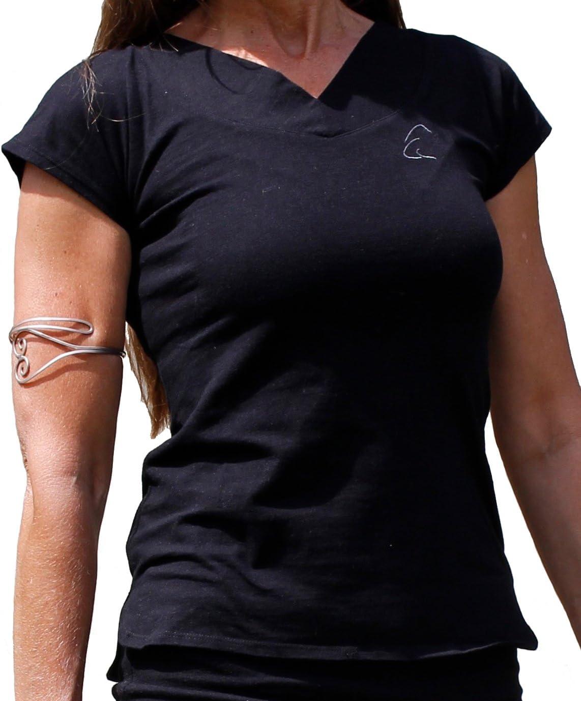 Esparto Farishta – Camiseta con Cuello de V (Farishta en algodón ...