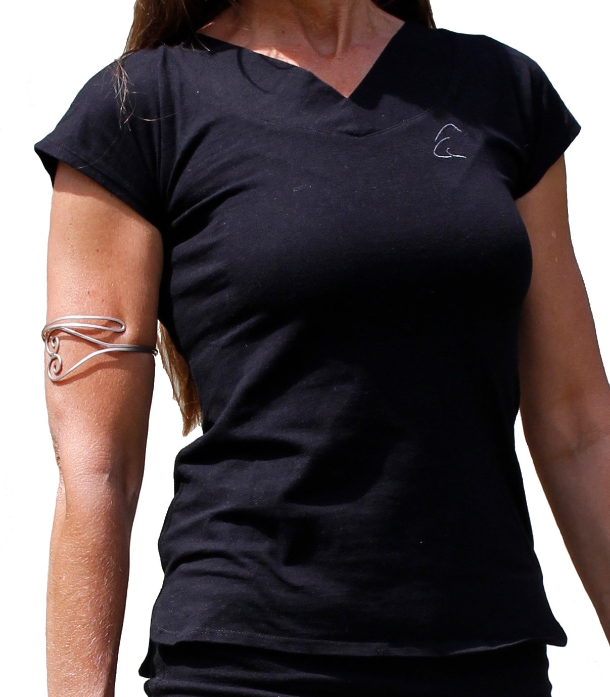 /Camiseta con Cuello de V Farishta en algod/ón org/ánico, Color Schneeweiss, tama/ño Medium Esparto /¨ Farishta/