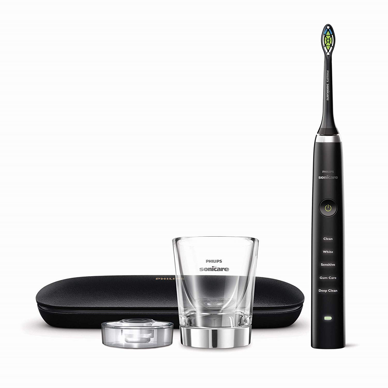 Philips Sonicare Diamond Clean Classic Rechargeable Electric Toothbrush, Black HX9351/57