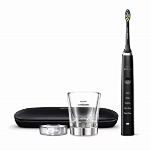 Philips Sonicare HX9351/57 DiamondClean Classic Rechargeable Electric Toothbrush, Black