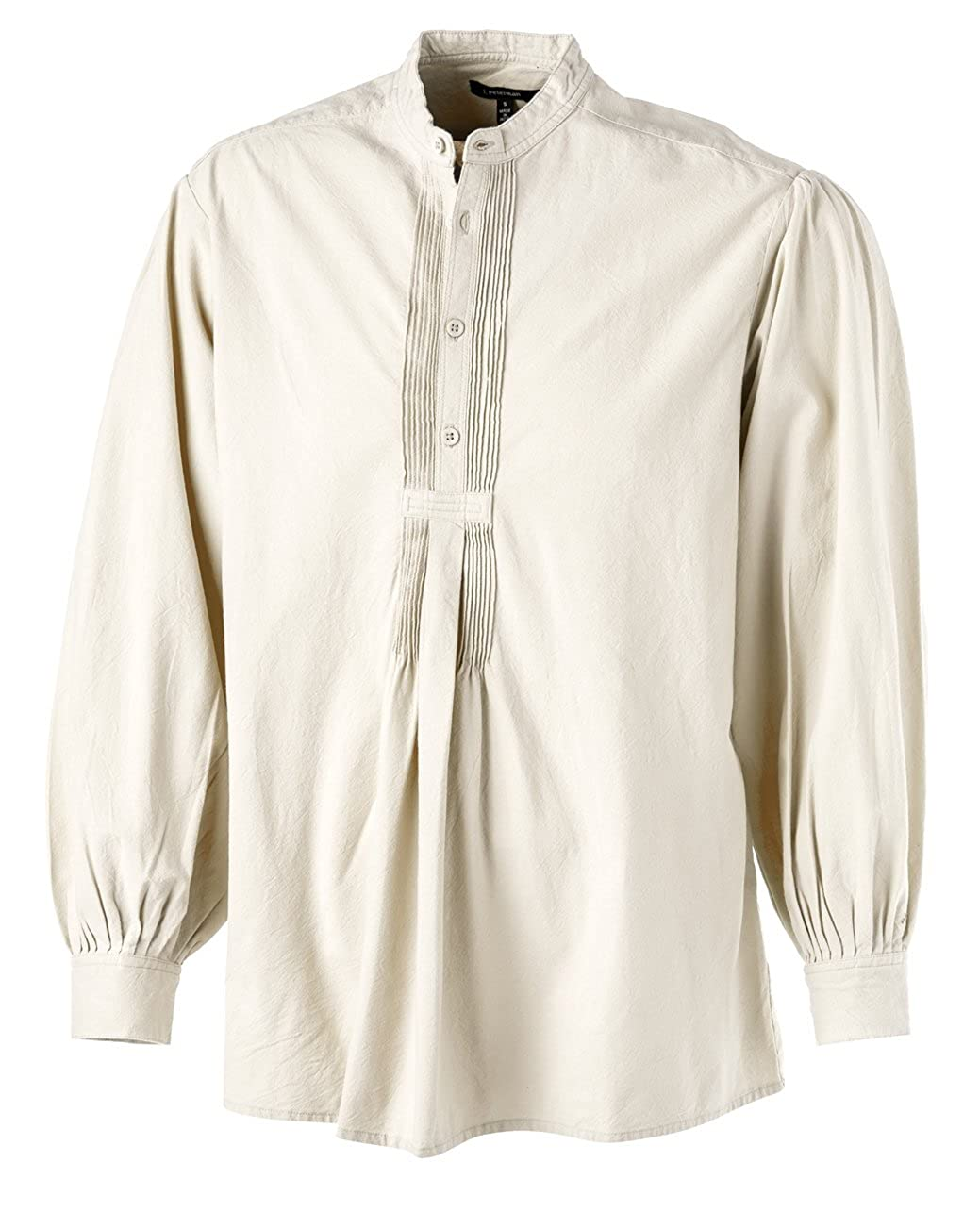Victorian Men's Shirts- Wingtip, Gambler, Bib, Collarless Otavalo Mountain Shirt $33.35 AT vintagedancer.com