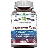 Amazing Formulas Magnesium Malate – 1250 mg per serving 180 Tablets