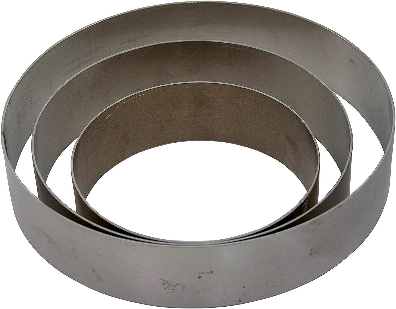 Set:3-teilig H/öhe 6 cm bis 7 teilig Tortenringe-Set f/ür Etagen-Tortenst/änder von 3