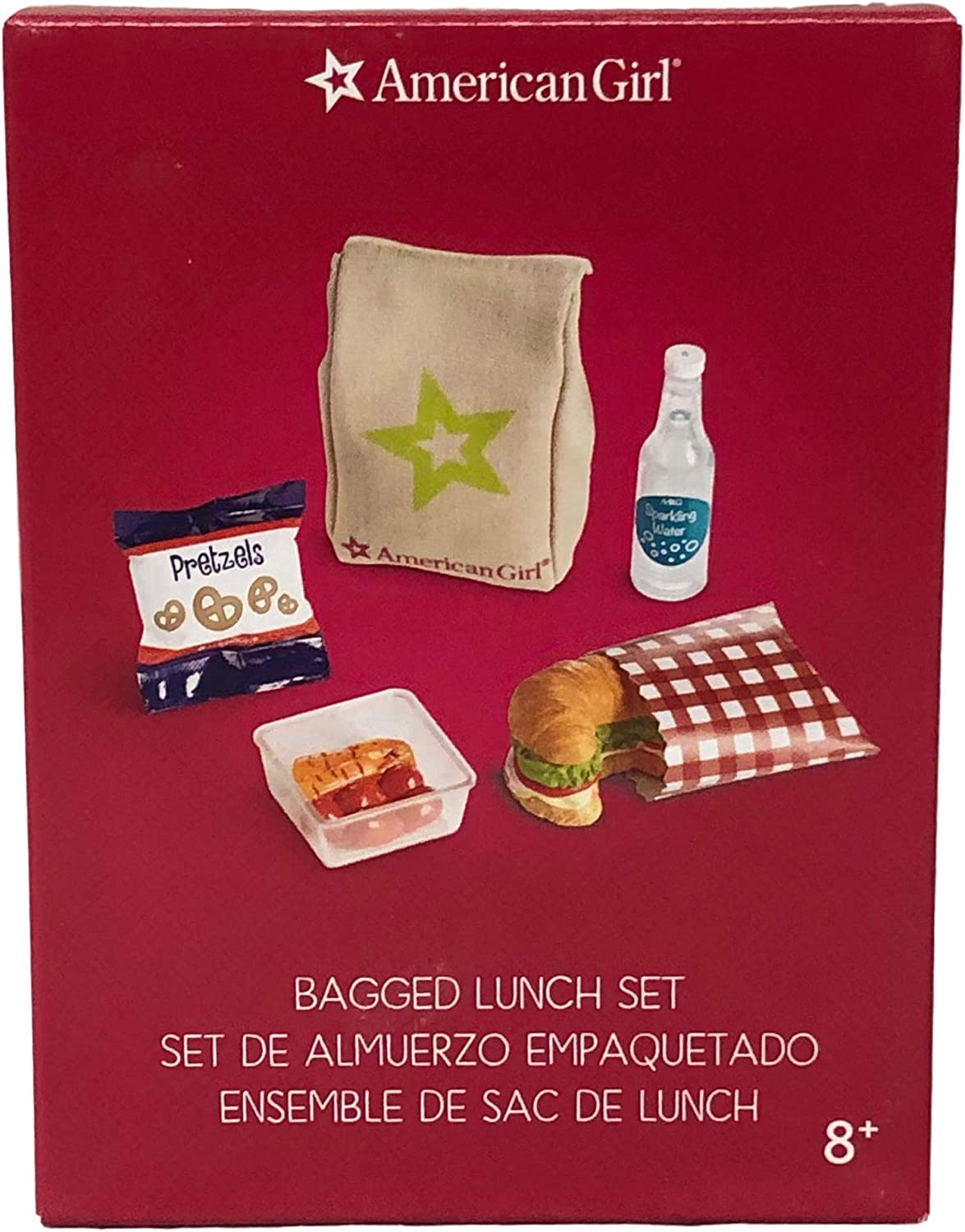 """American Girl 18/"""" doll BAG of PRETZELS from BAGGED LUNCH set NEW!"""