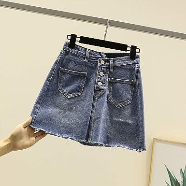 DER Nueva Falda De Mujer De Cintura Alta Versión Coreana De La ...
