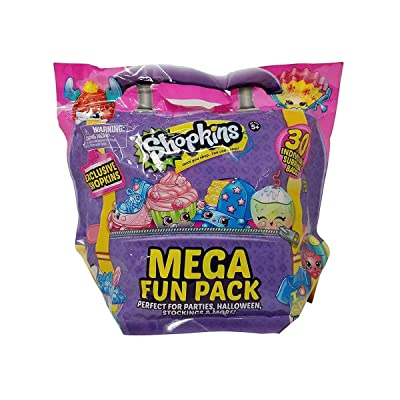 Shopkins Mega Fun Pack with 30 Individually Bags, Multicolor: Toys & Games