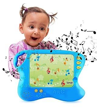 Boxiki Kids Pad de Aprendizaje en Inglés con 10 Cartas educativas Tablero Infantil con Funciones Toca y aprende | Set de Aprendizaje Electrónico ...