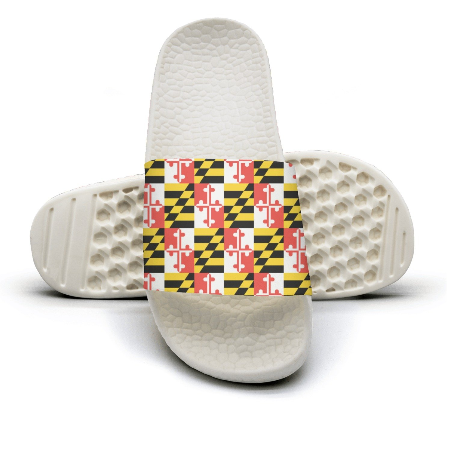 Maryland State Flag Non-Slip Soft Foams Slipper Home Slide Sandals For Women