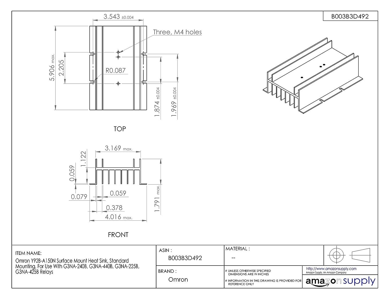 Amazon.com: Omron Y92B-A150N Surface Mount Heat Sink, Standard ... on