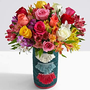 Amazon Com Proflowers Multi Colored Mixed Flowers Deluxe