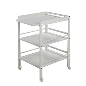 Geuther Table à Langer Clarissa blanche - Plan à langer + 2 étagères