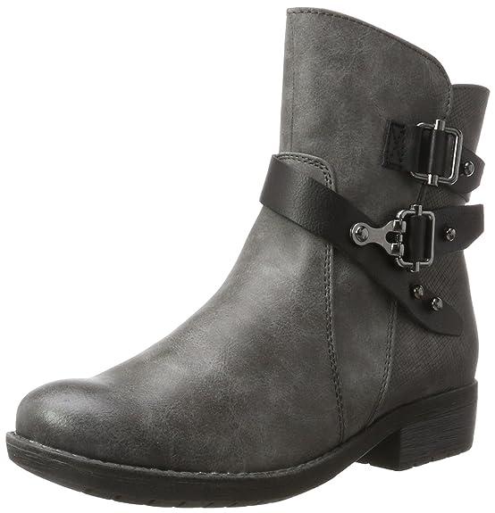 Marco Tozzi Cool Club Mädchen 46402 Biker Boots, Grau (Dk.Grey A.Comb), 37 EU
