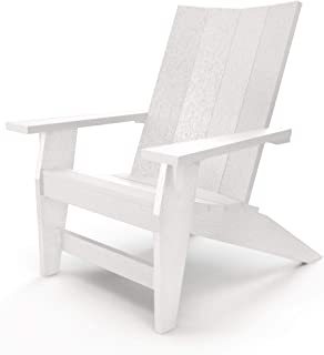 product image for Hatteras Hammocks White Adirondack Chair, Eco-Friendly Durawood, All Weather Resistance, Fit 'N' Finish Handcrafted in The USA