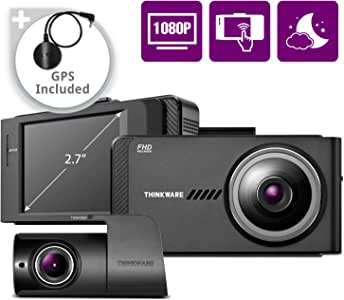 THINKWARE X700 Dual Dash Cam Front and Rear Camera for Cars, 1080P FHD, Dashboard Camera Recorder with G-Sensor, Car Camera W/Sony Sensor, GPS, Night Vision, 16GB, Optional Parking Mode