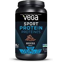 Vega Sport Protein Powder Mocha (19 Servings, 812g) - Plant-Based Vegan Protein Powder, BCAAs, Amino Acid, tart cherry…