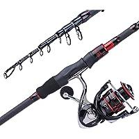 Sougayilang Fishing Rod and Reel Combos, Freshwater Spinning Combos Telescopic Spinning Fishing Rod and 13+1BB Corrosion…