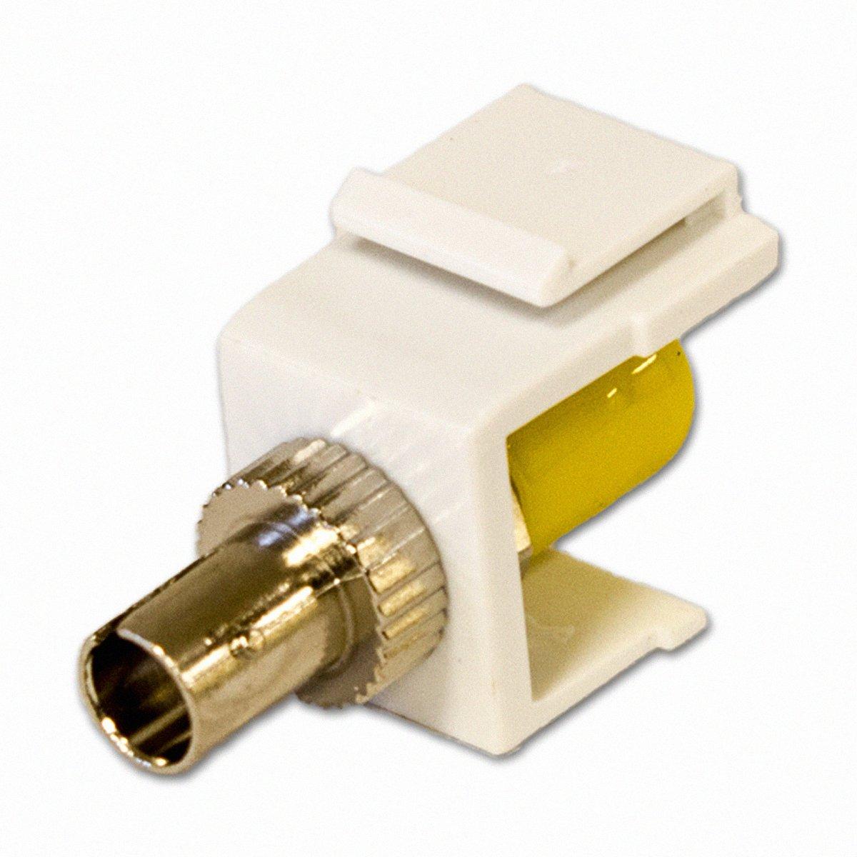 NavePoint st-mmファイバー光学Keystoneアダプタホワイト   B00BS2YJRY