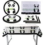 Panda Birthday Party Decoration,51Pack Panda Party Supplies,Panda Birthday Party Supplies,Props Holiday Party Cutlery…