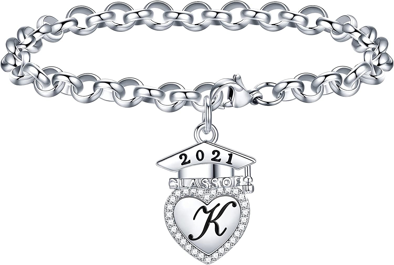 IEFWELL Graduation Gifts for Girl Bracelet, Charm Bracelet for Women 2021 Graduation Gifts Bracelet Cute College Graduation Gifts for Women Graduation Cap Bracelet for High School Graduation Gifts
