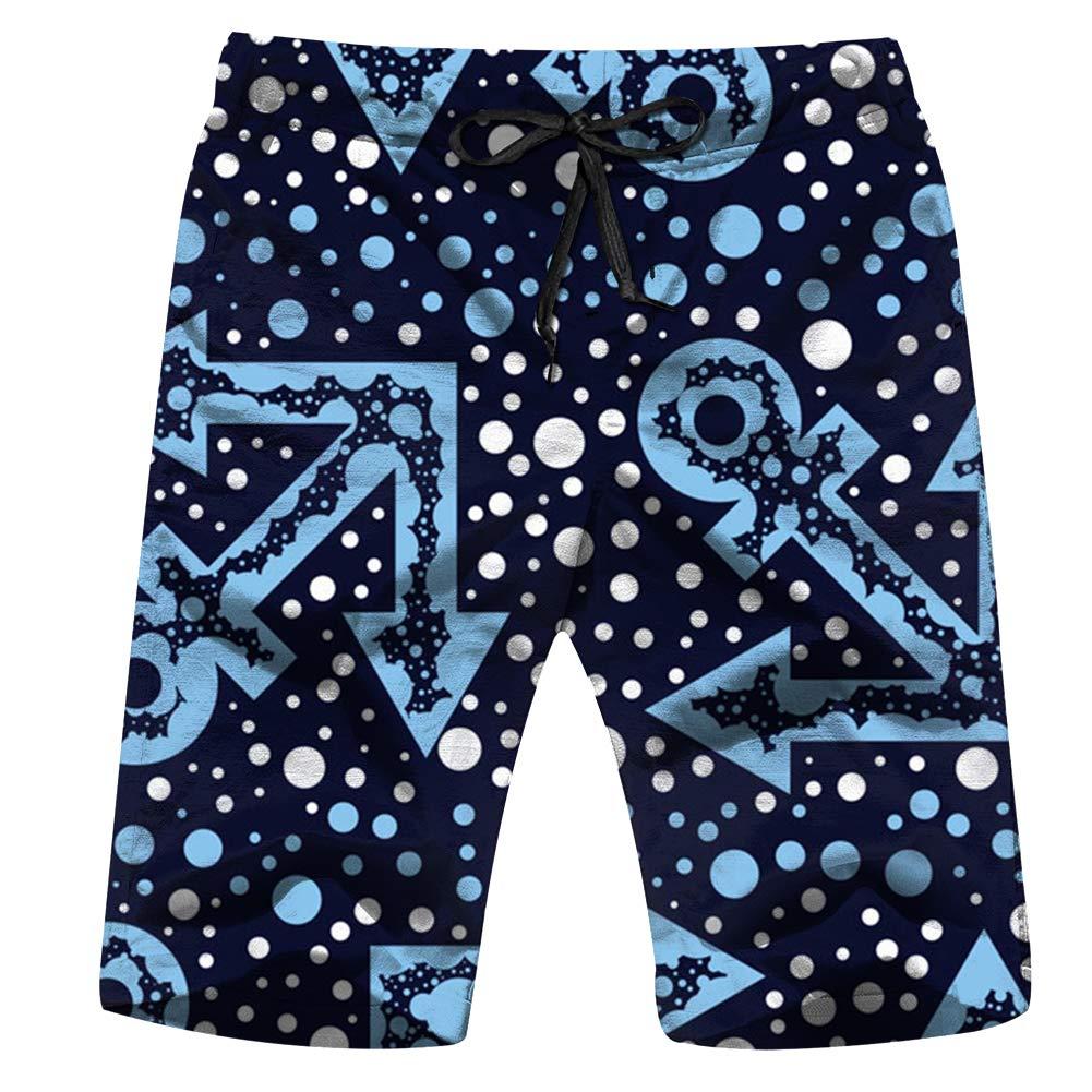 Blue Anchors Dots Striped Adventure Beauty Fashion Swim Trunks for Men Quick Dry Surf Board Shorts No Mesh Lining Beach Wear