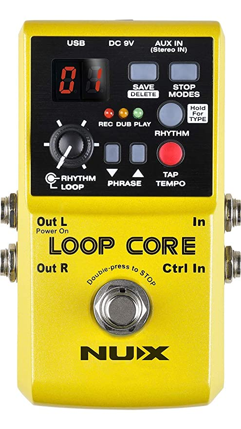 Amazon.com: NUX Loop Core Looper Effects Pedal with Tap Tempo Bundle with Blucoil 9V DC Power Supply with Short Circuit Protection, 2-Pack of Pedal Patch ...