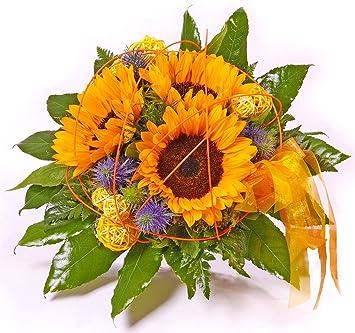 Gratis Gru/ßkarte+Wunschtermin+Frischhaltemittel+Geschenkverpackung Blumenstrau/ß Blumenversand Sonnenblumen Sommergru/ß