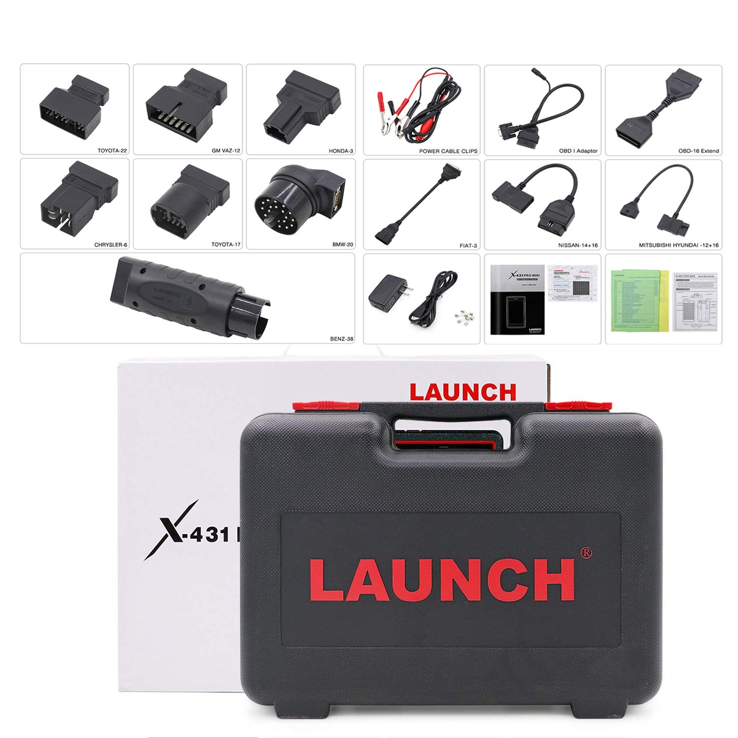 LAUNCH X431 PRO Mini Bi-Directional Diagnostic Tool Full Systems OBD2 Scanner IMMO Reset Key Progm ECU Coding (Upgraded PROS Mini)-Free Update 2 Years by LAUNCH (Image #6)