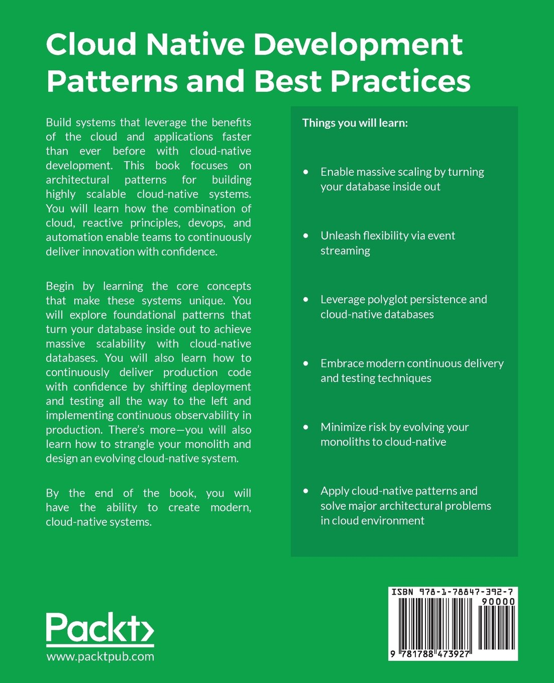 buy cloud native development patterns and best practices practical