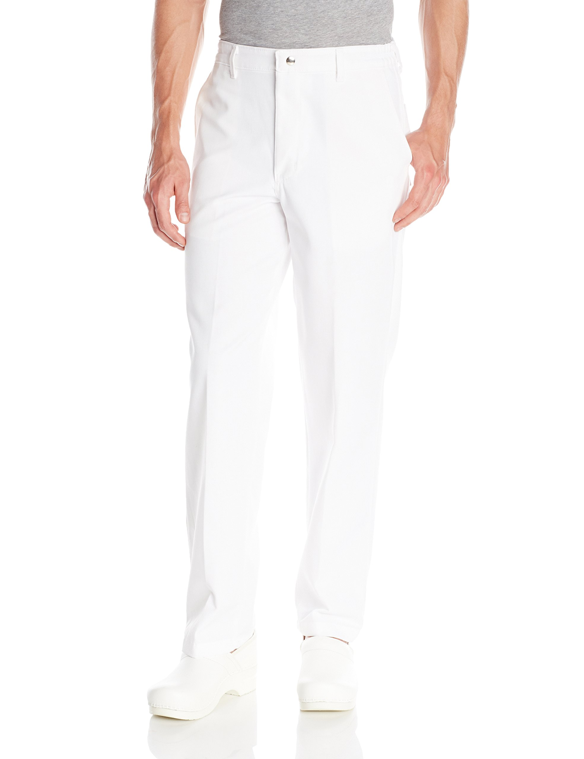 Chef Designs Men's Chef Pant, White, 34x32 by Chef Designs