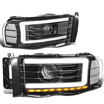 DNA MOTORING Black/Clear HL-LB-DR02-BK-CL1 Pair LED DRL Projector Headlight Lamp Replacement: Automotive