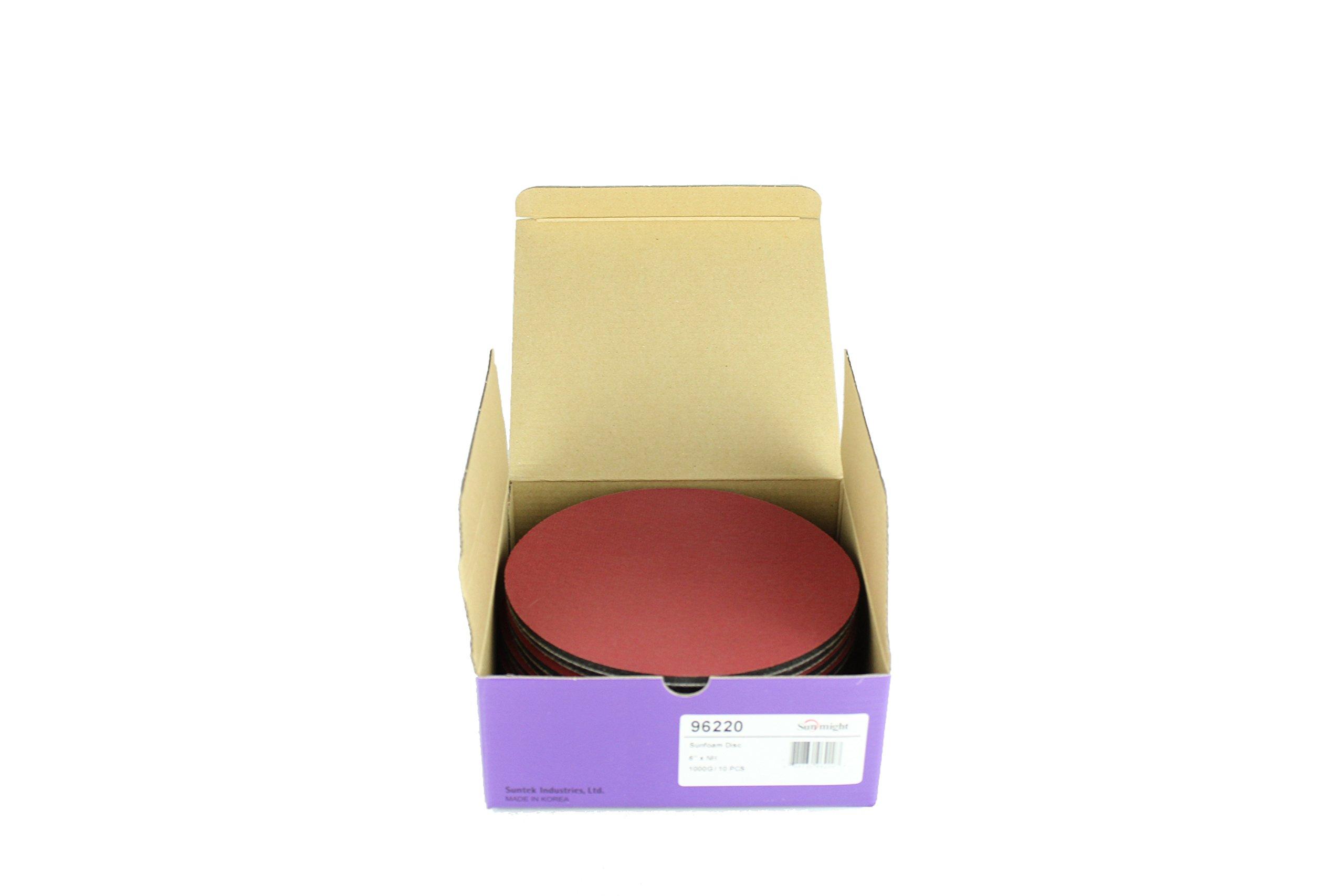 Sunmight 96220 1 Pack 6'' No Hole Velcro Foam Disc (Sunfoam Grit 1000) by Sunmight (Image #3)