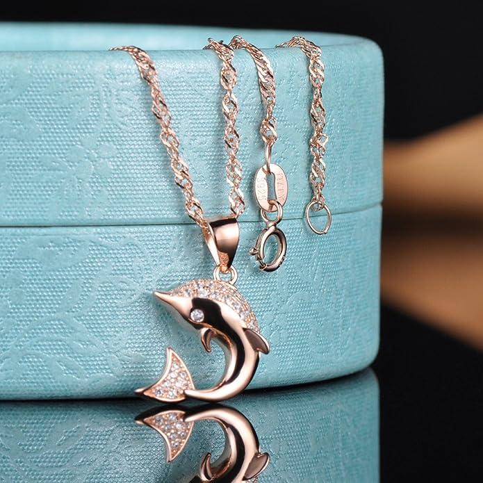 Delfin Anhänger Halskette Glow in the Dark Grün Cyan Lavendel Delphin