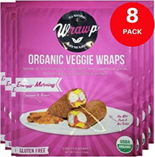 product image for Raw Organic Energizing Morning Veggie Wraps | Wheat-Free, Gluten Free, Paleo Wraps, Non-GMO, Vegan Friendly Made in the USA (8 Pack)
