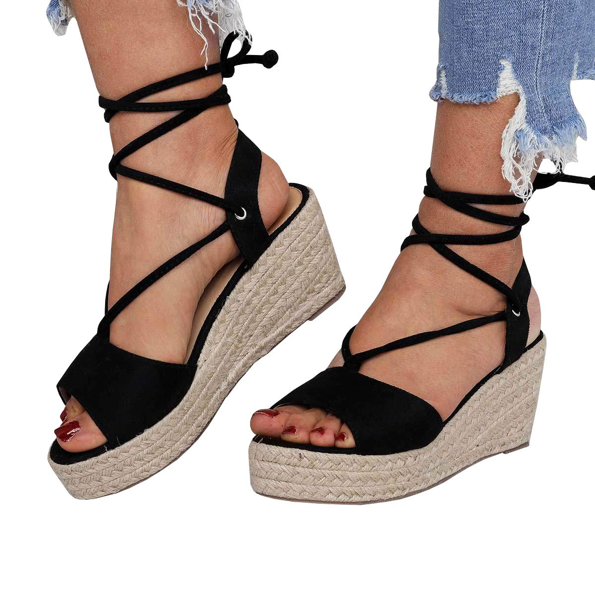 c3794481ec2 Amazon.com   Seraih Womens Peep Toe Platform Wedge Sandals Instep ...