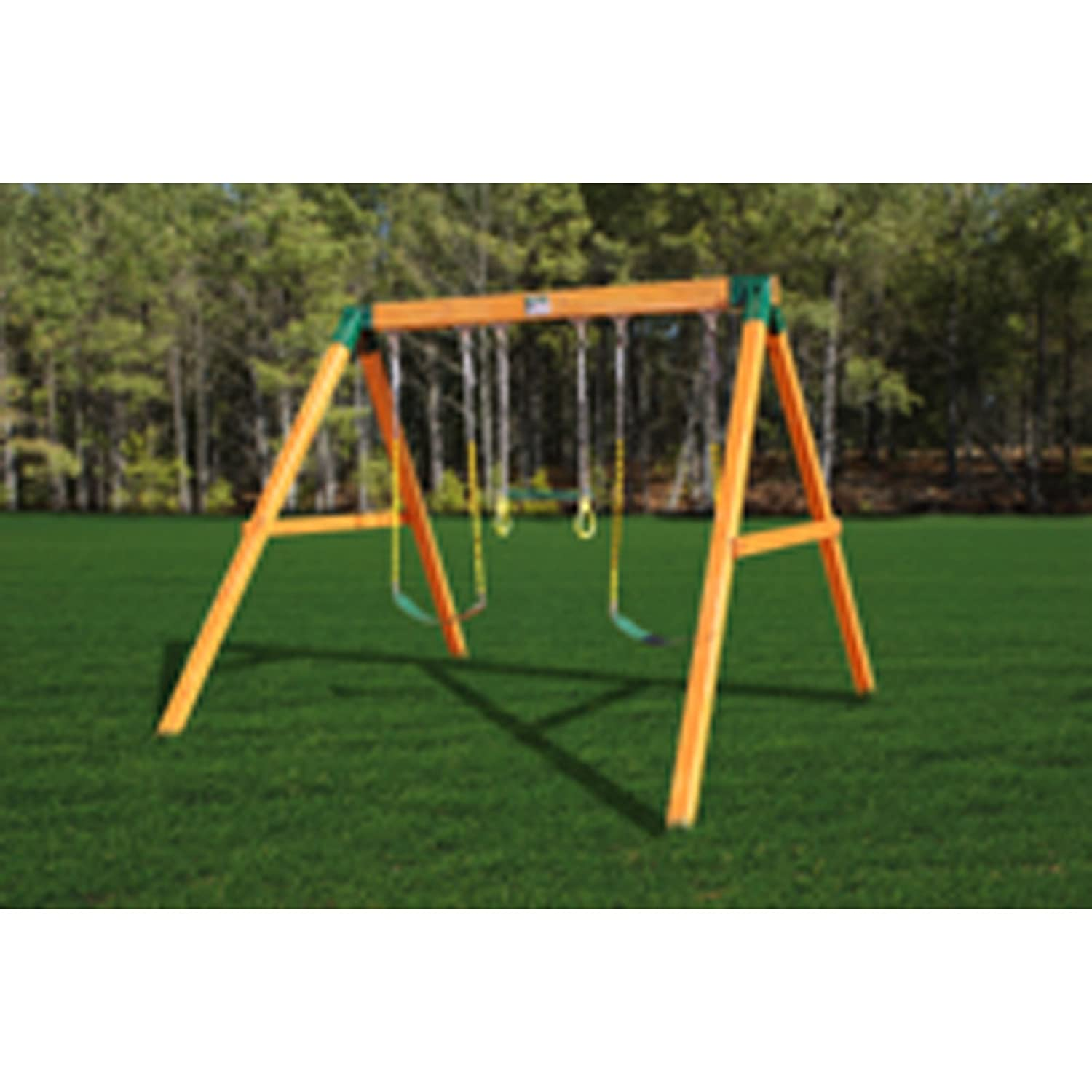 amazon com gorilla playsets free standing swing station amber