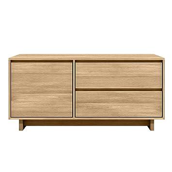 design de qualité 67f75 c936a Ethnicraft 51452 wAVE meuble tV-chêne massif - 127 x 46 x 60 ...