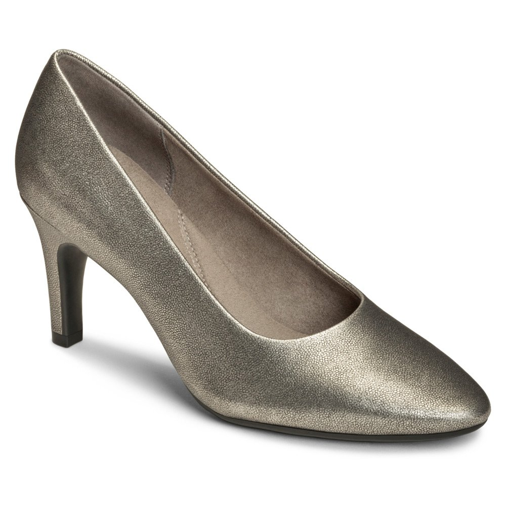 Aerosoles Women's Exquisite Dress Pump B01EJYRFW8 10.5 B(M) US|Silver Leather