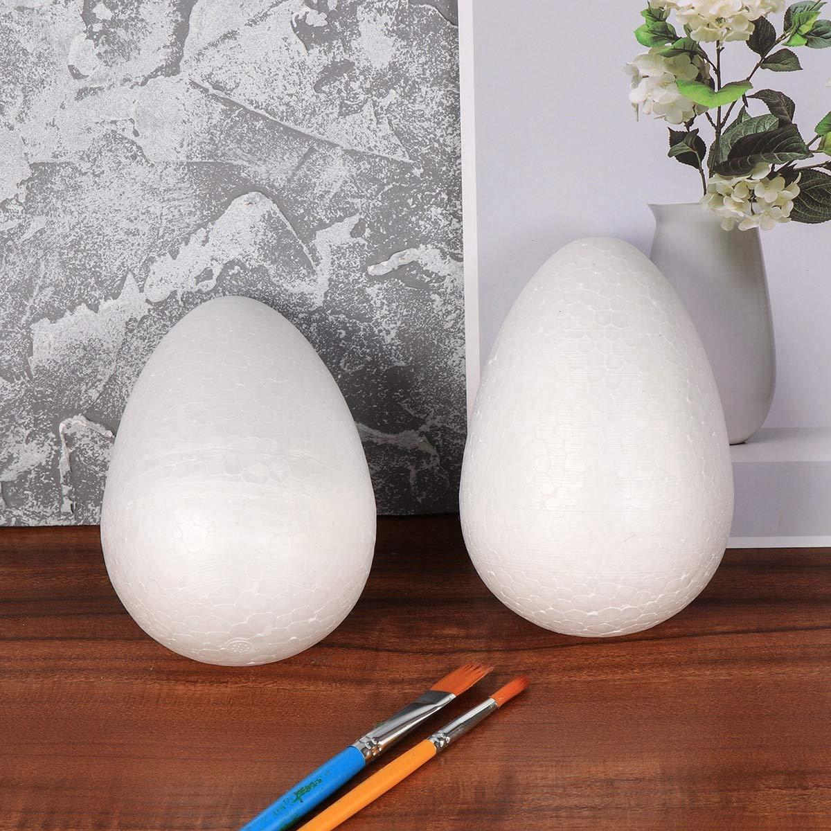 Amosfun Pintura de espuma de huevo DIY decoraci/ón de espuma de poliestireno de Pascua para ni/ños artesan/ía festival blanco