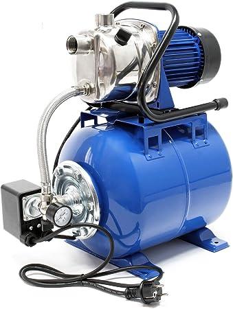 Grupo de presión 1200W 3400l/h Presostato y calderín membrana 19L Equipo doméstico suministro ...