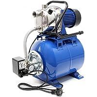 Grupo de presión 1200W 3400l/h Presostato y calderín membrana 19L Equipo doméstico suministro agua