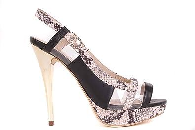 Sandales Noir Versace Bs02 Chaussures Femmes Talons Brides À Hauts cK3lF1TJ