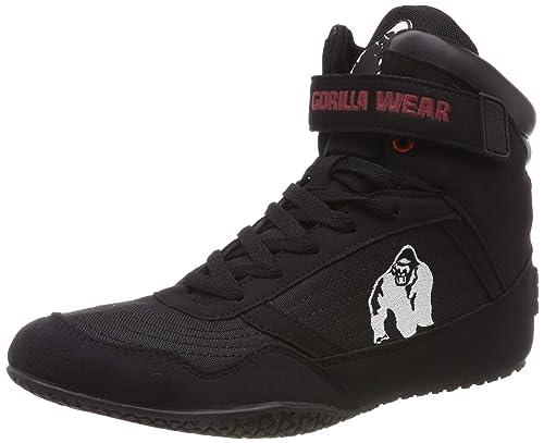 8bc38a40ecff Gorilla Wear Bodybuilding scarpe alte cime nero e rosso  Amazon.it  Scarpe  e borse