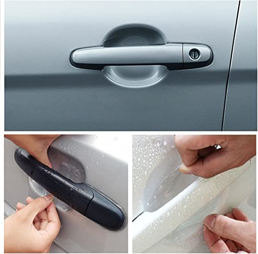 8pcs Car Door Handle Anti Scratch Protector Transparent Sticker Clear Films