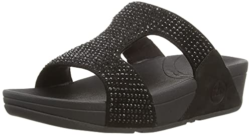 bdbeca2e8 Fit Flop Women s Rokkit Crystal Slide Sandal  Buy Online at Low ...